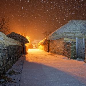 눈 내리는 낙안읍성