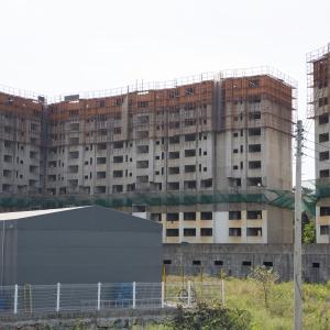 옥곡 한양수자인아파트 폐건물