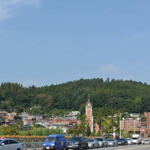 산 아래 마을